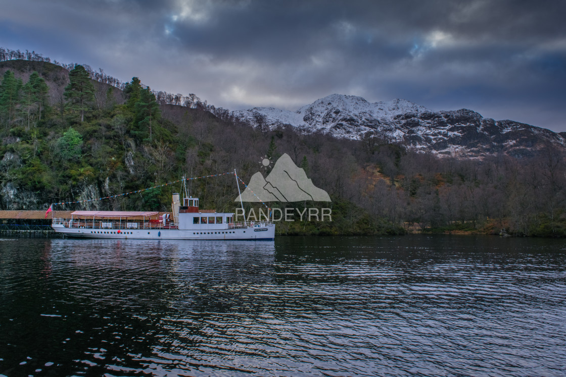 """Loch Katrine, The Lady of the Lake - Trossachs - Scottish Highlands in Scotland"" stock image"