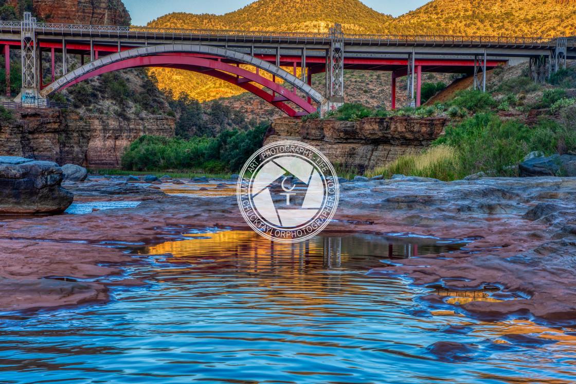 """salt river canyon sunrise"" stock image"