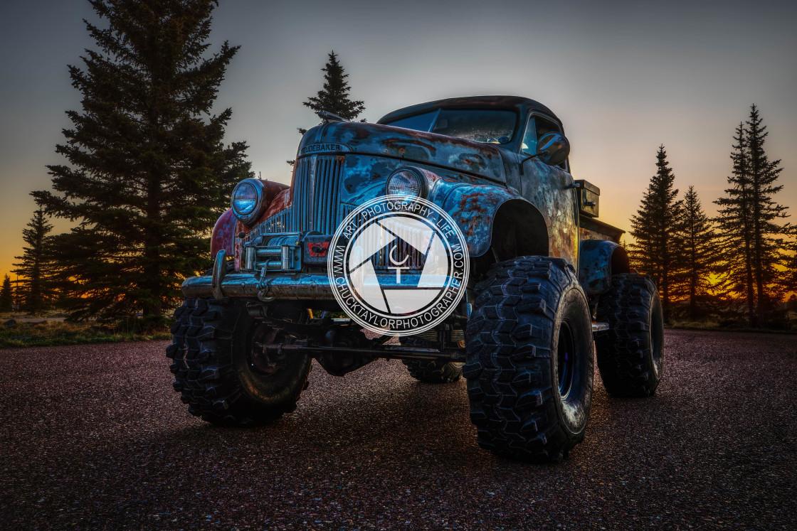 """Classic car-truck-studebaker-1947"" stock image"