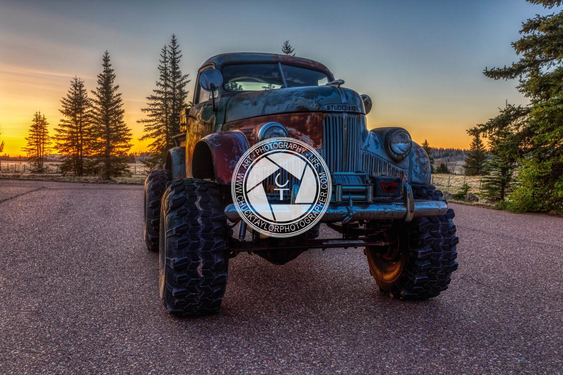 """Classic-truck-1947-studebaker"" stock image"