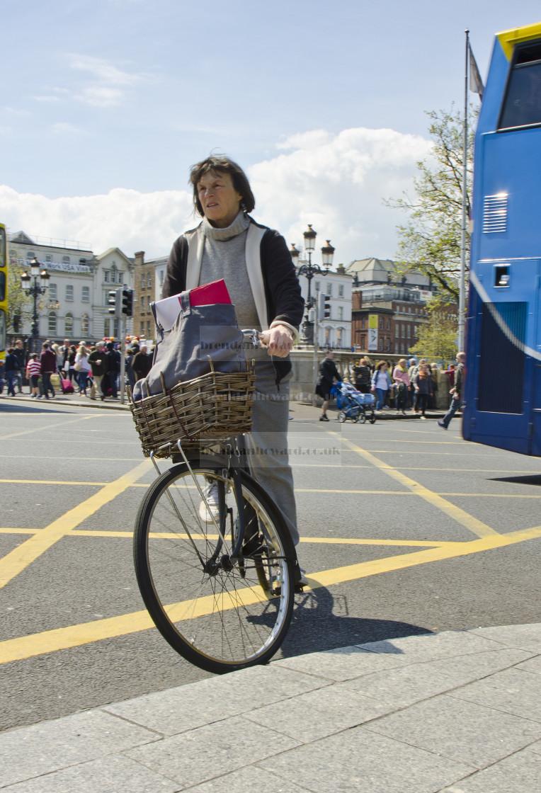"""""""Dublin Cyclist"""" stock image"""