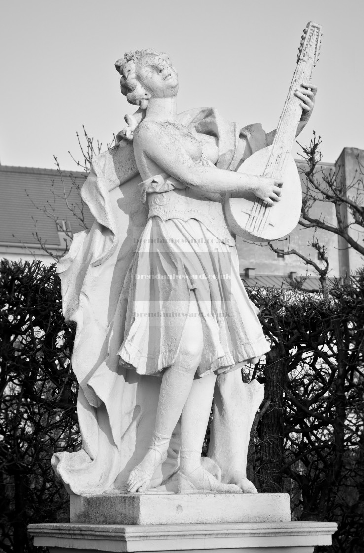 """Mandolin Player Statue"" stock image"