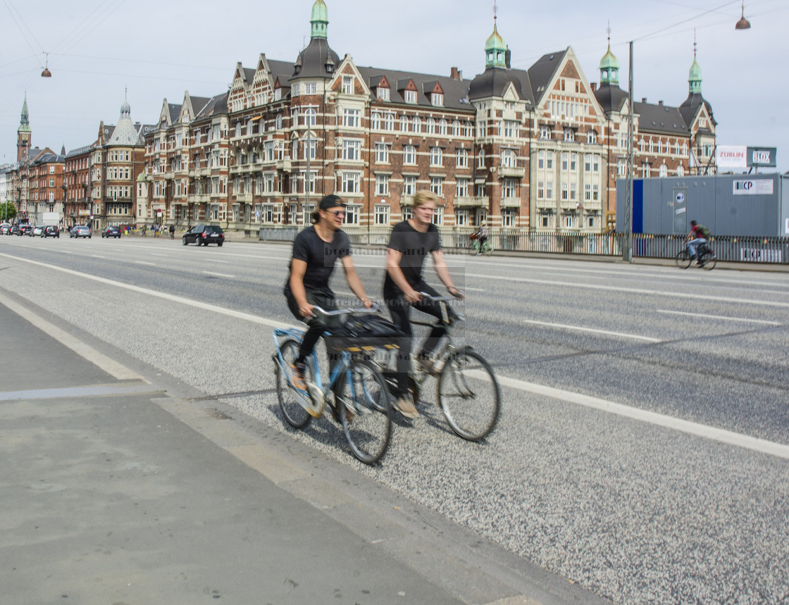 """""""Cyclists"""" stock image"""