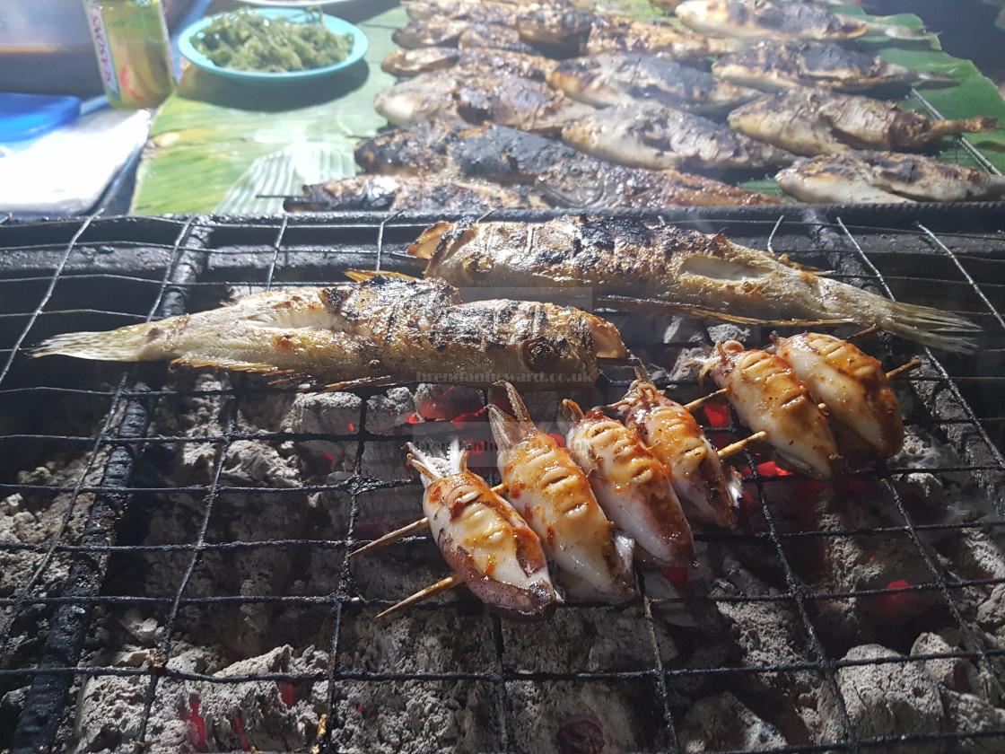 """Kota Kinabalu Seafood Market and Eatery, Malaysia"" stock image"