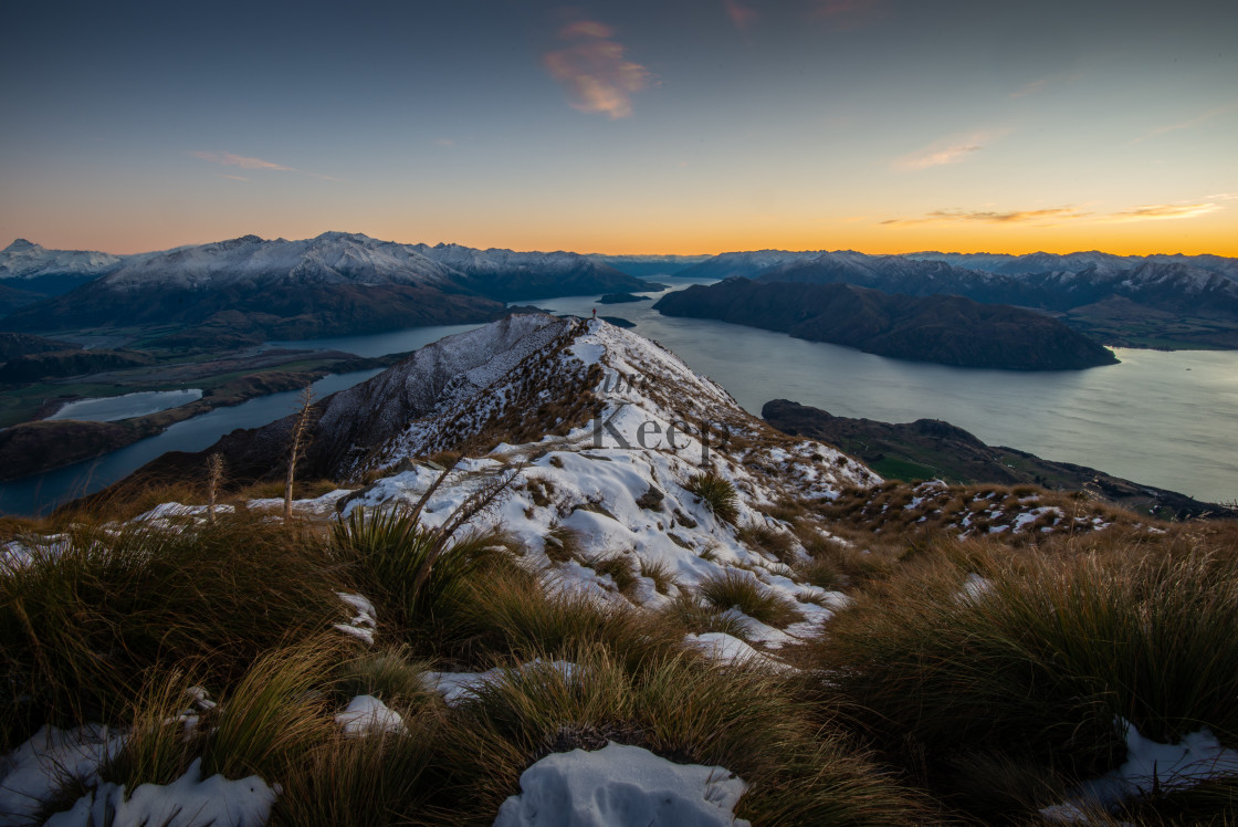"""Sunrise at Roy's Peak"" stock image"