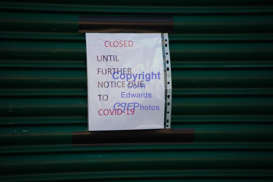 """COVID-19 Notice"" stock image"