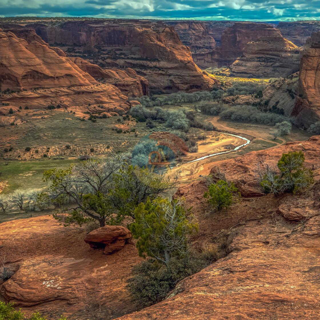 """""""travel-painted-desert-arizona"""" stock image"""