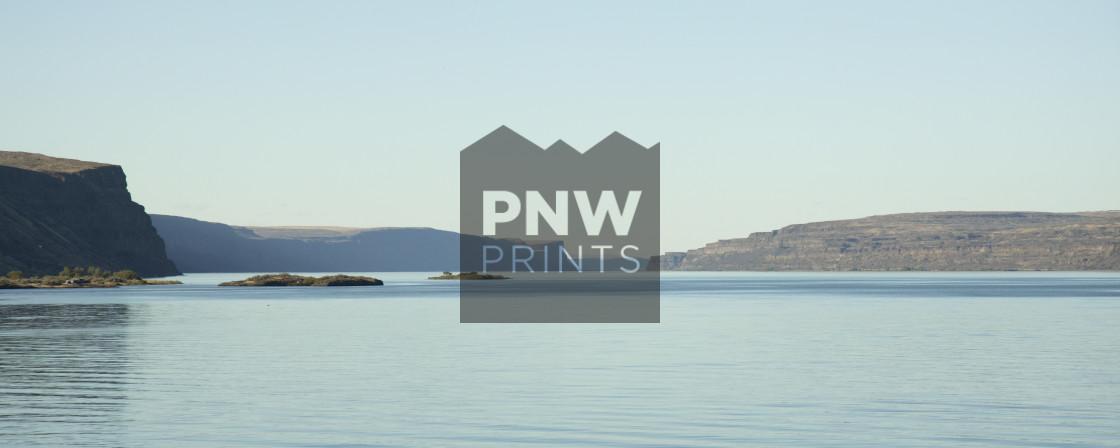 """Eastern Washington State Water Landscape"" stock image"