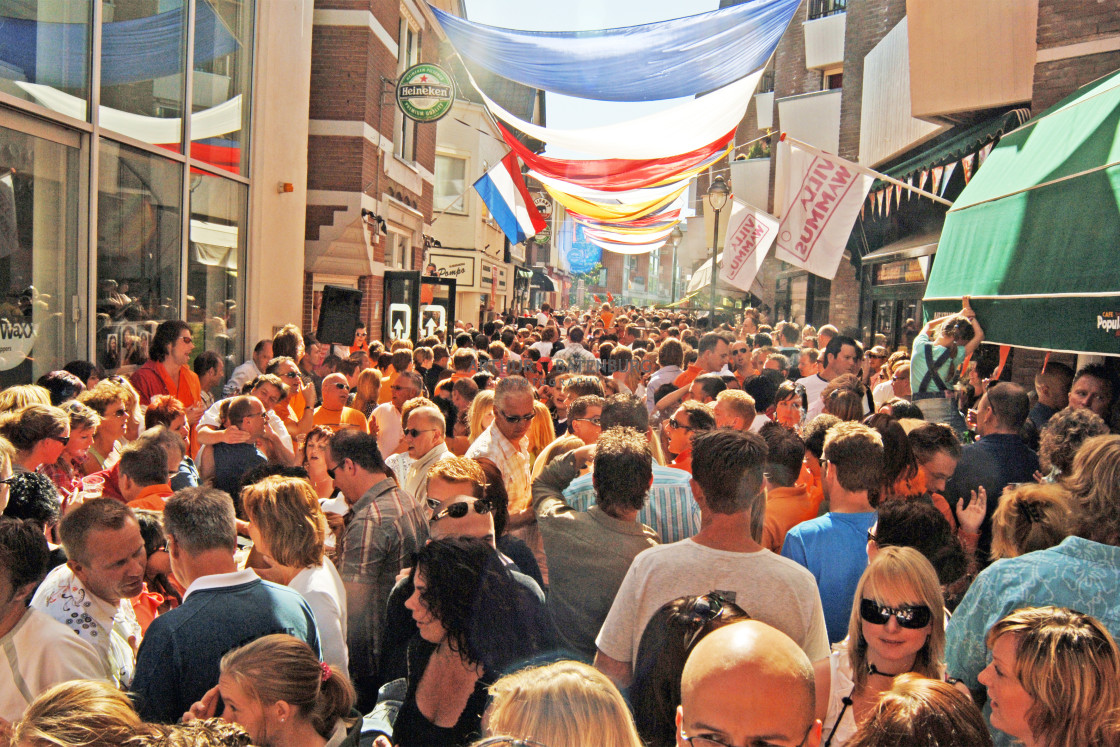 """""""Kingsday in the Netherlands"""" stock image"""