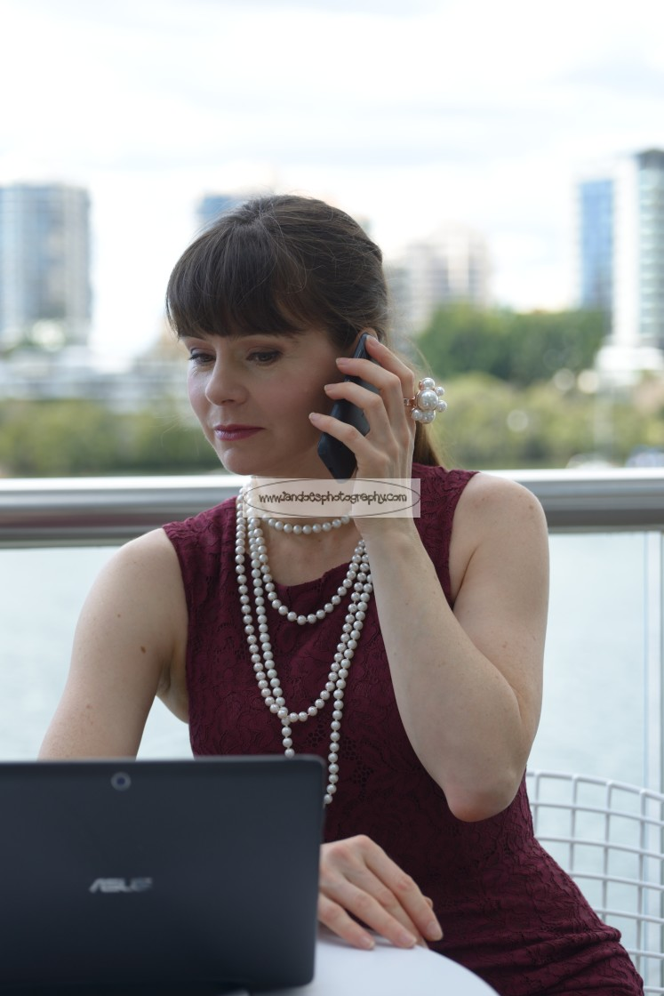 """""""Business Phone Call"""" stock image"""
