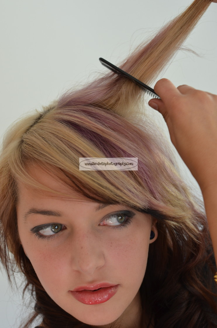 """""""Combing Hair"""" stock image"""