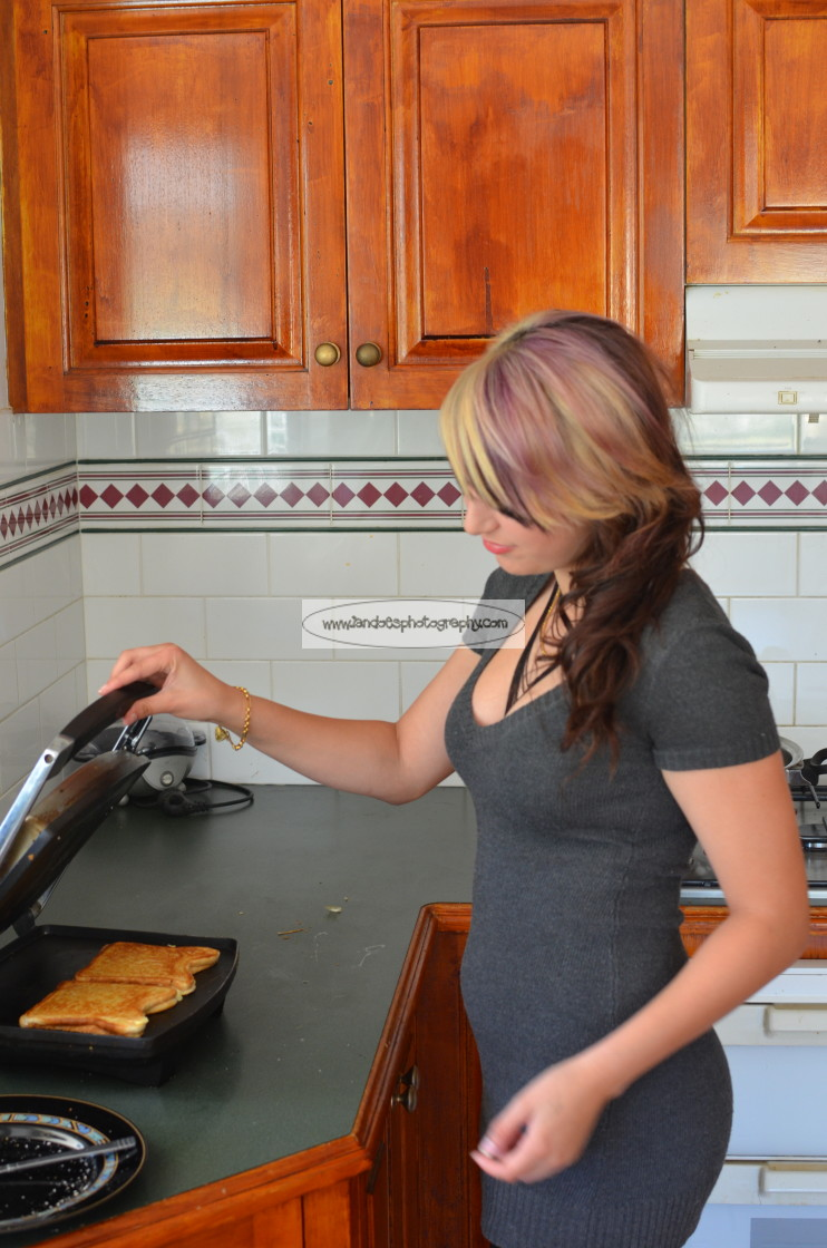 """""""Making Lunch"""" stock image"""