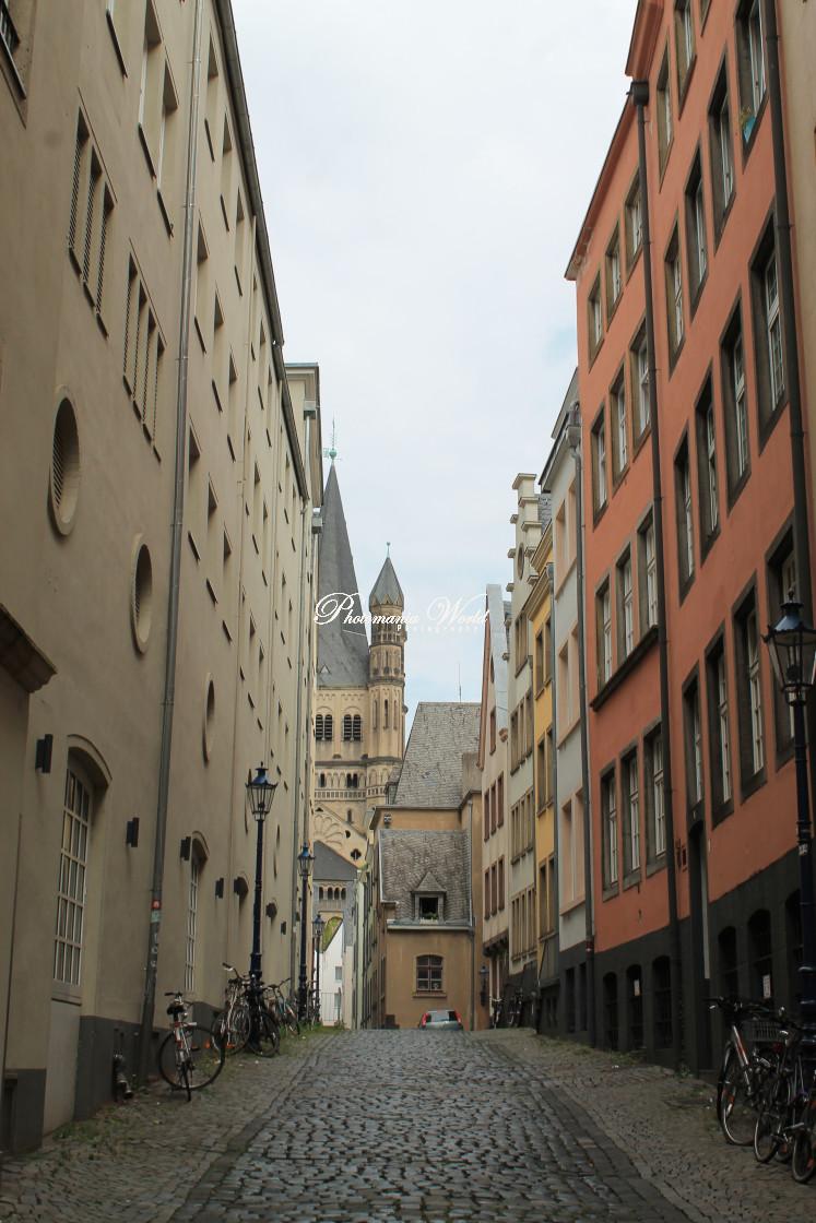 """German side street"" stock image"