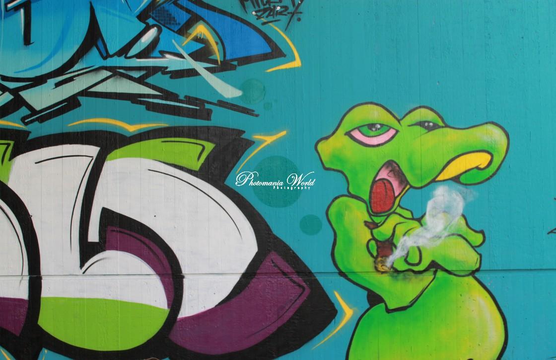 """Snake Grafitti"" stock image"