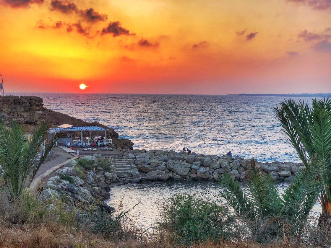 """""""Sunset in Paphos"""" stock image"""