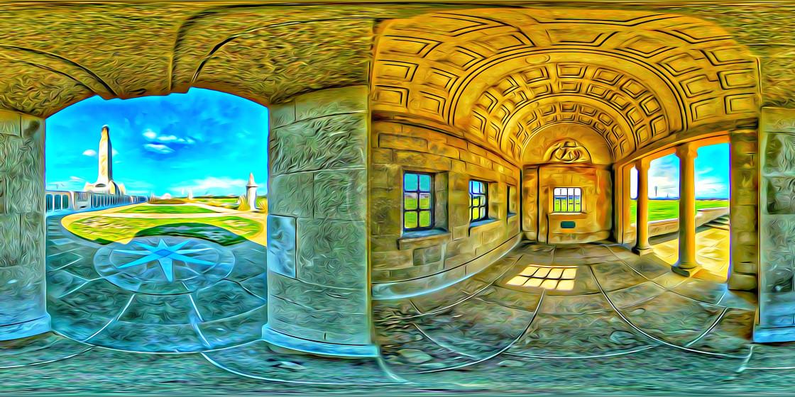 """Royal Navy Memorial. (360VR digital art)"" stock image"