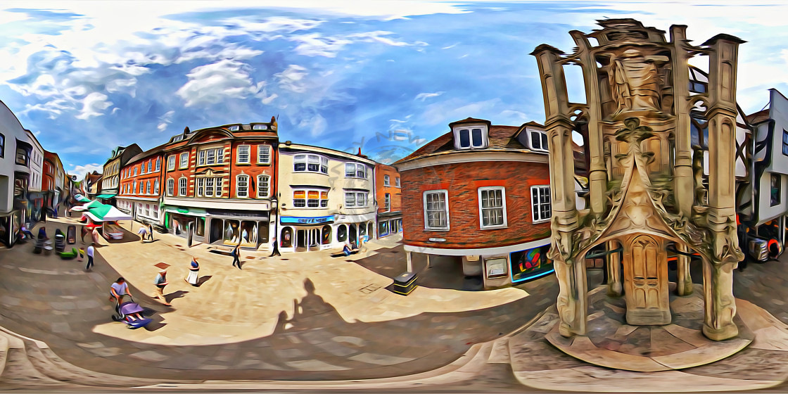 """Buttercross in Winchester (360VR)"" stock image"