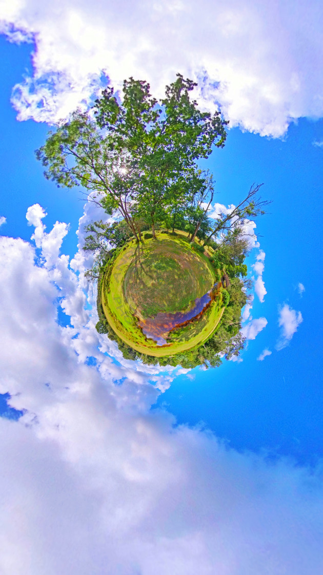 """New Forest stream (Little planet)"" stock image"