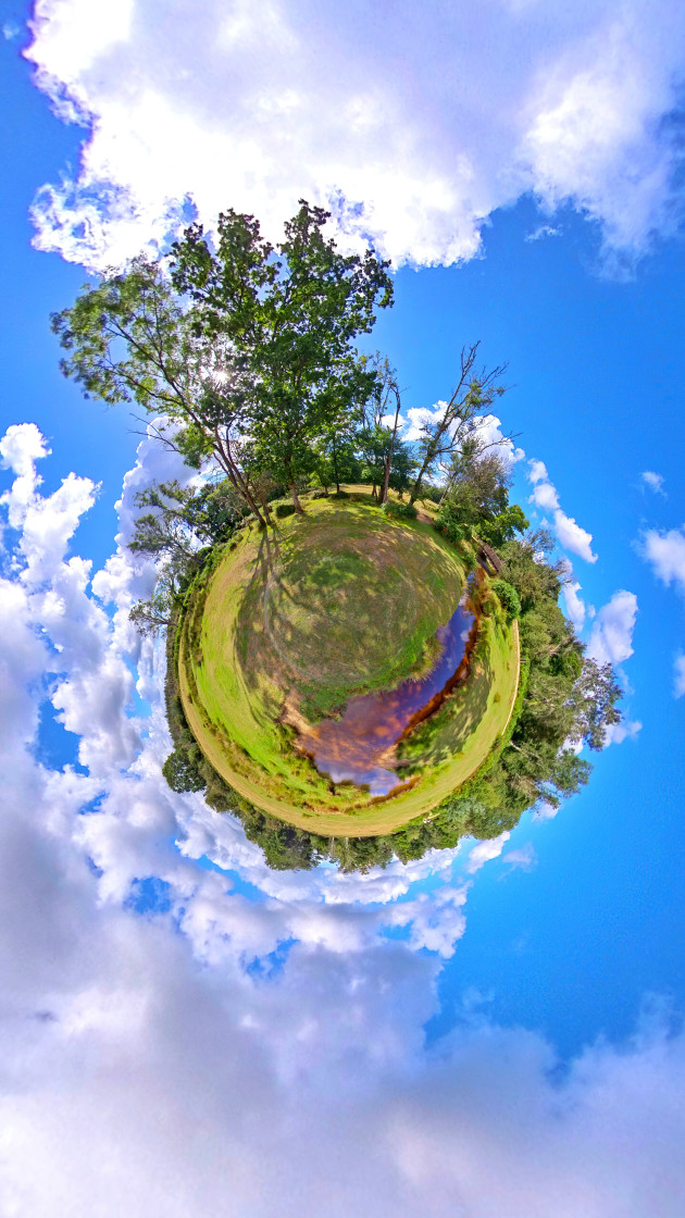"""""""Stream in the New forest (Little planet)"""" stock image"""