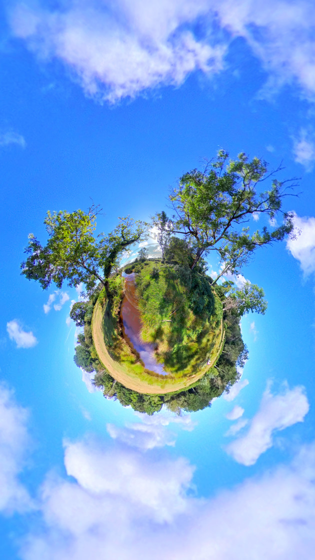 """""""New Forest Stream (Little planet)"""" stock image"""
