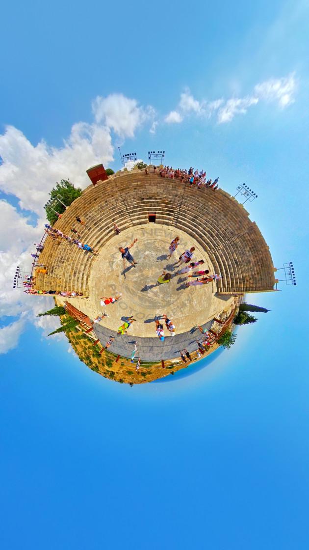 """""""Κourion Ancient Amphitheater, Cyprus"""" stock image"""