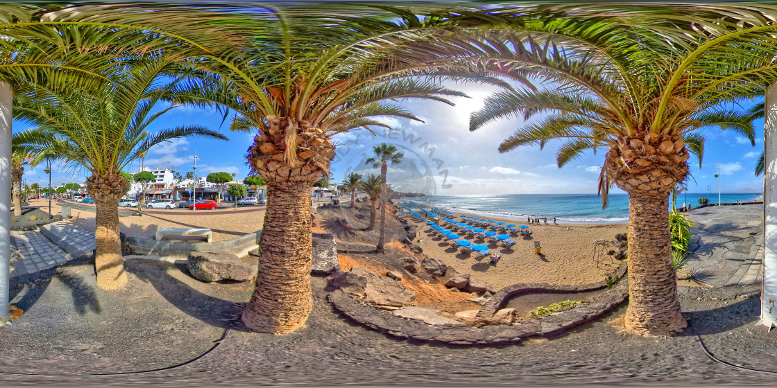 """Puerto del Carmen promenade (360-VR)"" stock image"