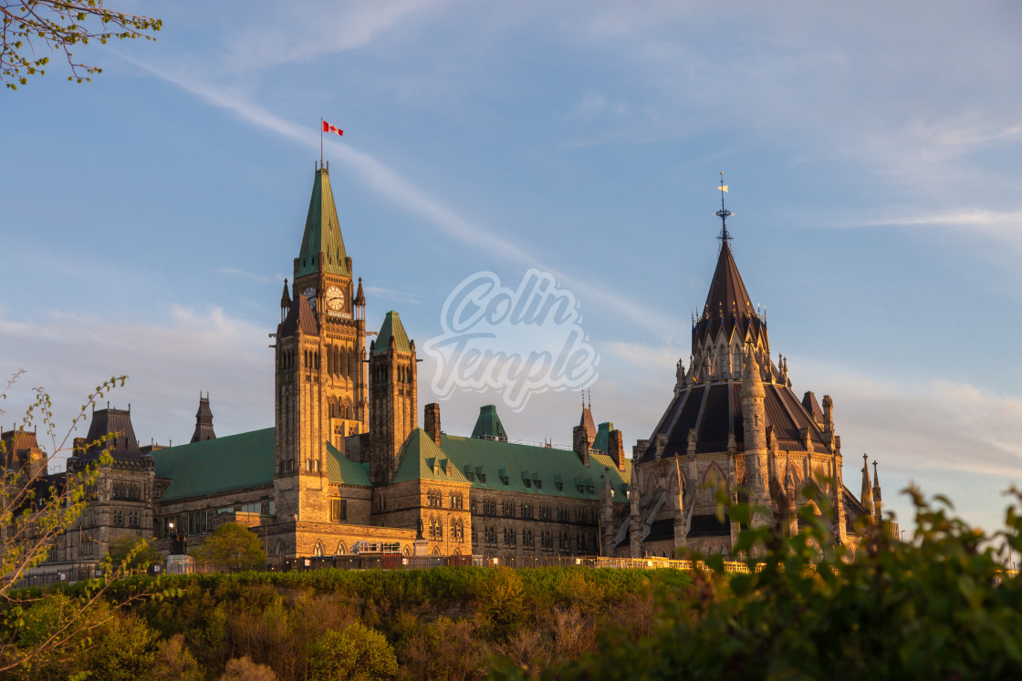 """Parliament Hill in Ottawa, Canada"" stock image"