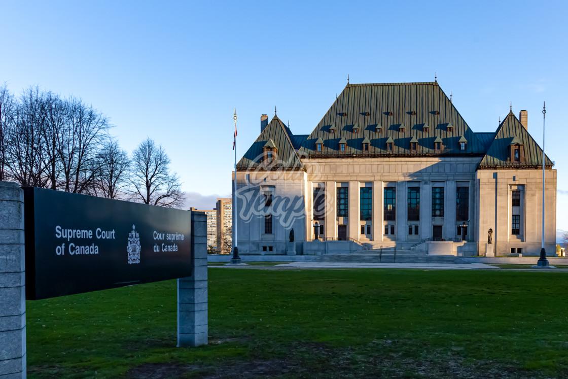 """Supreme Court of Canada in Ottawa"" stock image"