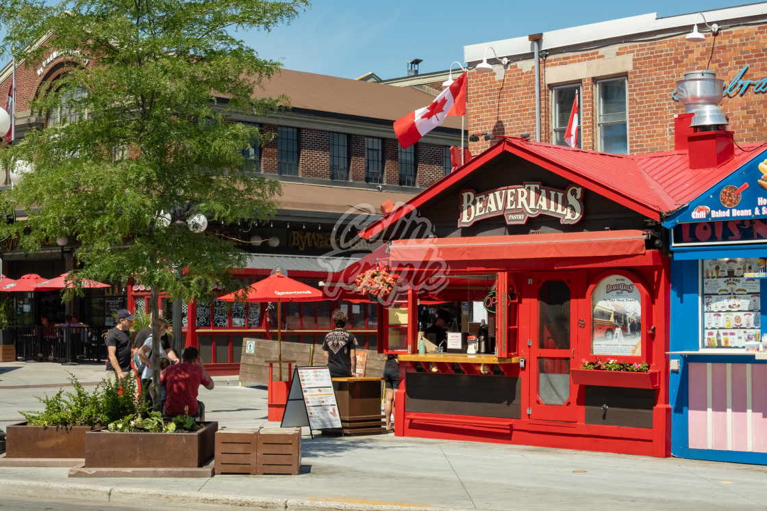 """BeaverTails Pastry Stand in Ottawa's ByWard Market"" stock image"