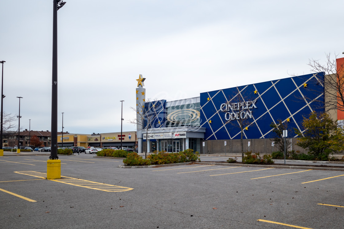 """Closed Cineplex movie theatre in Ottawa"" stock image"