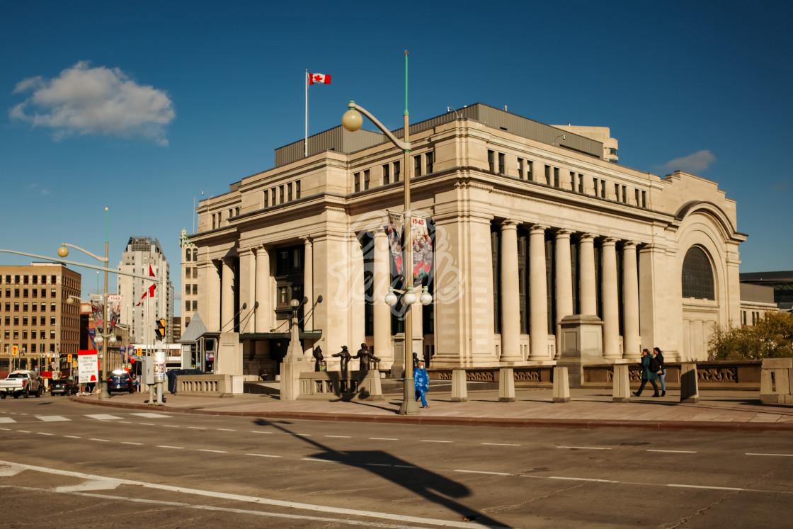"""""""Senate of Canada building in Ottawa"""" stock image"""