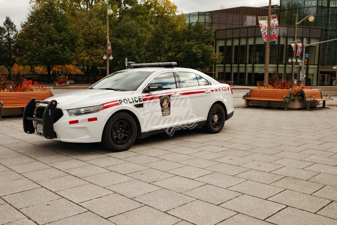 """""""Canadian Military Police car in Ottawa"""" stock image"""