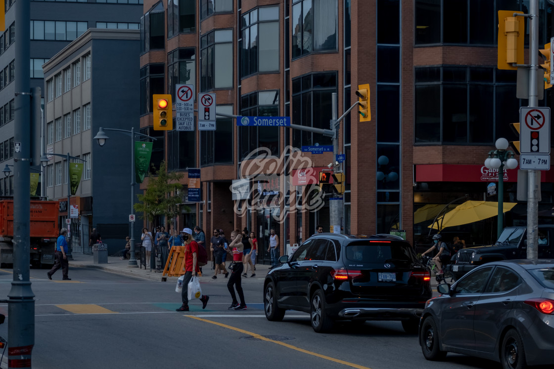 """Somerset & Bank Streets in Ottawa"" stock image"
