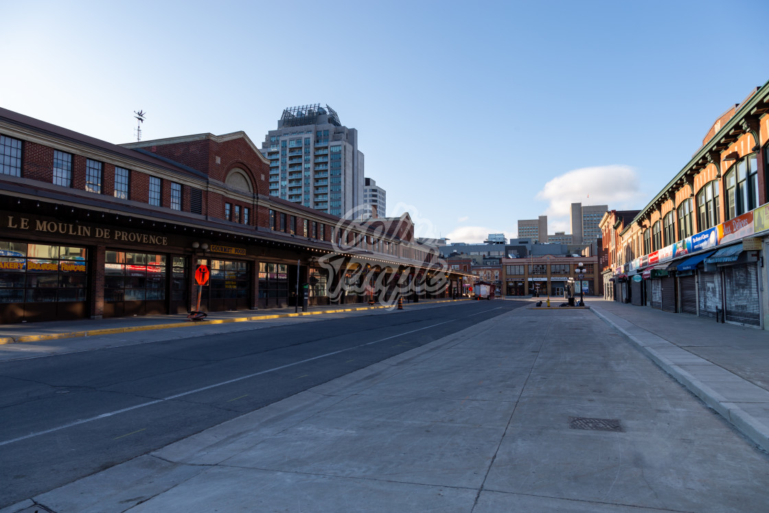 """Empty ByWard Market during COVID-19 pandemic"" stock image"