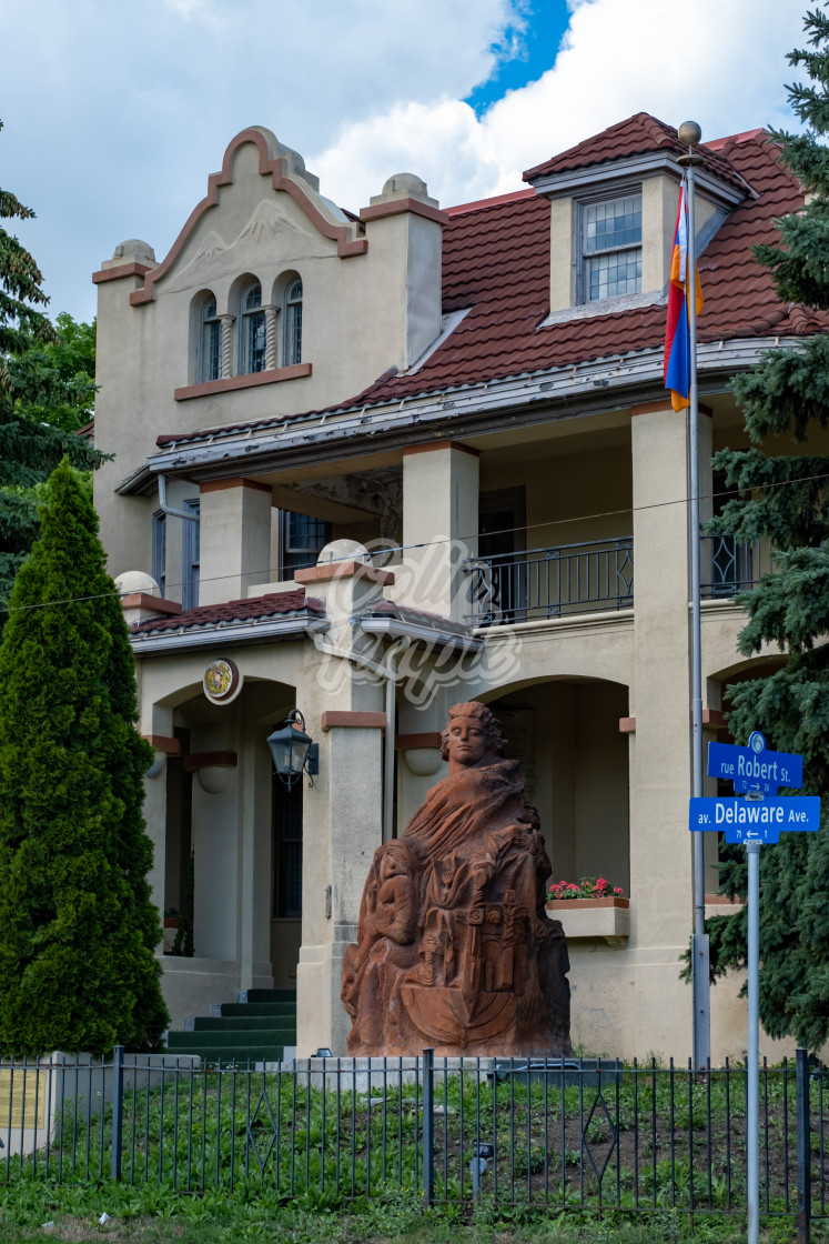 """Embassy of Armenia in Ottawa, Canada"" stock image"