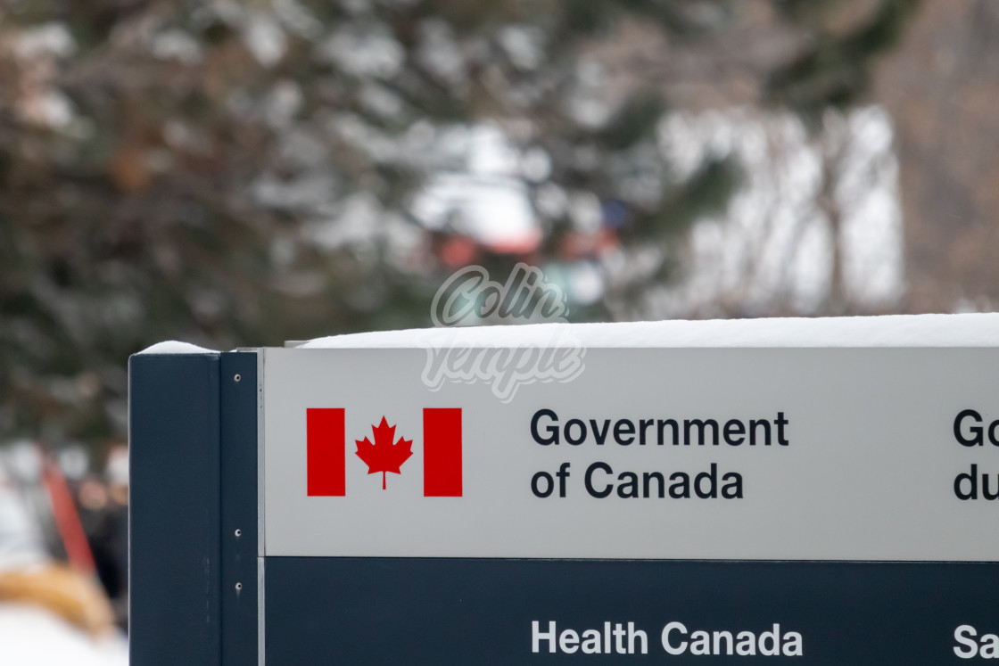 """Government of Canada: Health Canada Office Sign"" stock image"