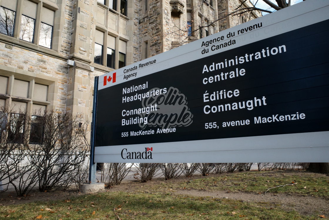 """Canada Revenue Agency National Headquarters Sign"" stock image"