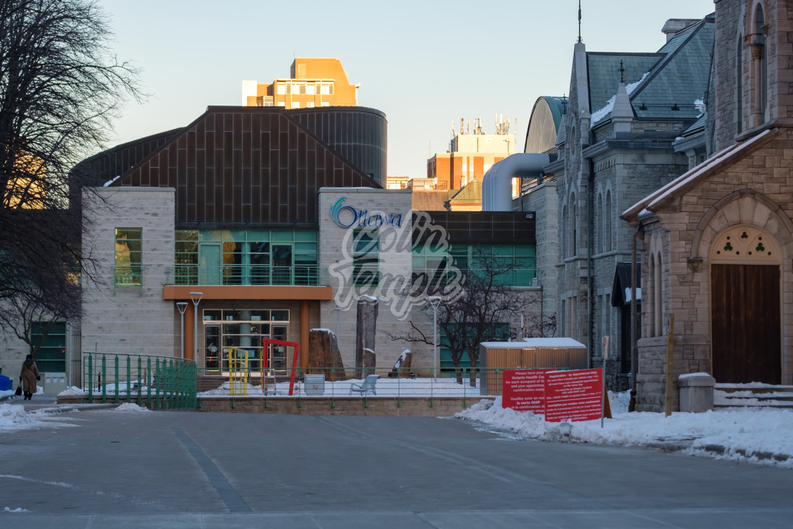 """Ottawa City Hall entrance from Elgin Street"" stock image"