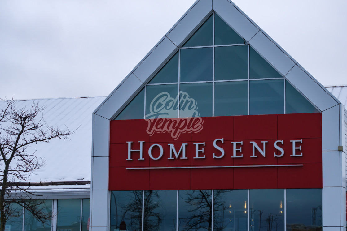 """HomeSense store in winter, Ottawa"" stock image"