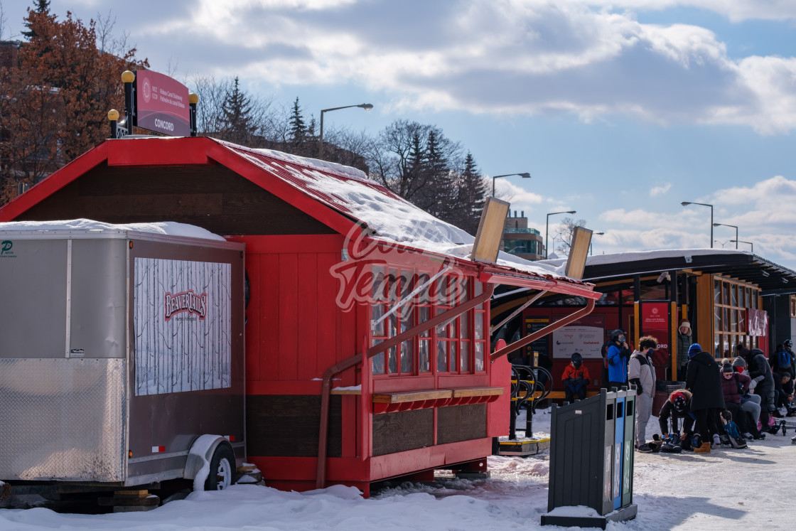 """Rideau Canal BeaverTails stand closed for lockdown"" stock image"