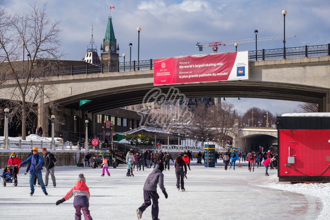 """Rideau Canal: The world's longest skating rink"" stock image"