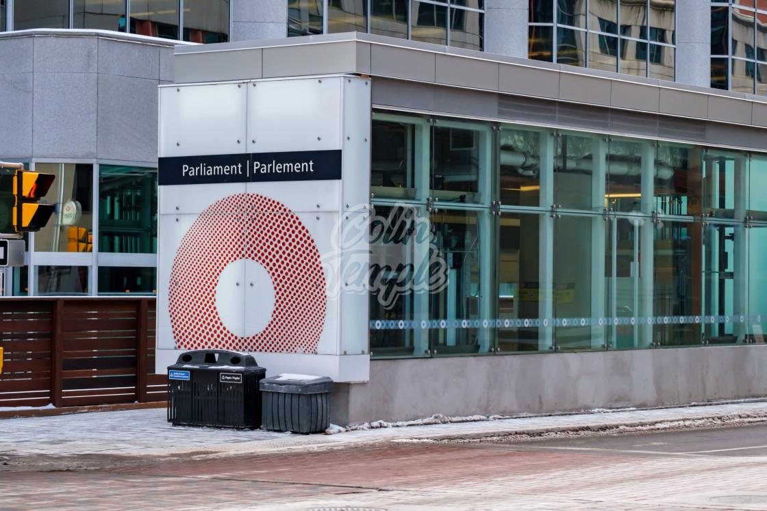 """Parliament OC Transpo station in Ottawa"" stock image"