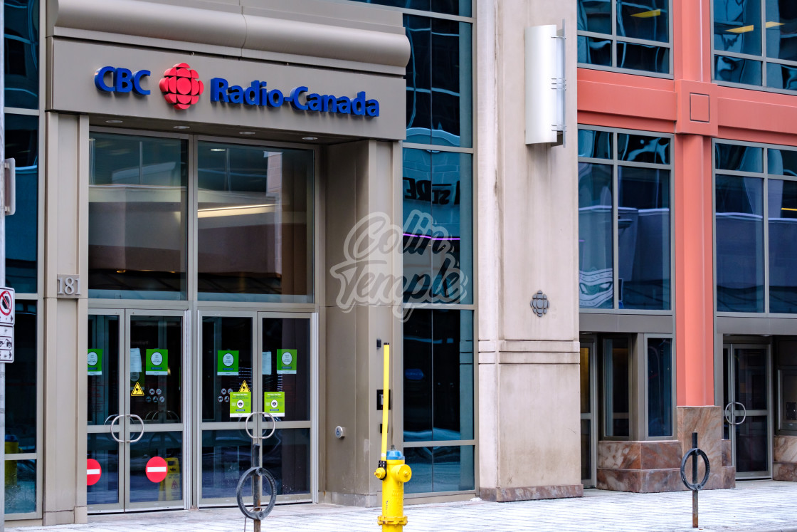 """CBC Radio-Canada office in downtown Ottawa"" stock image"