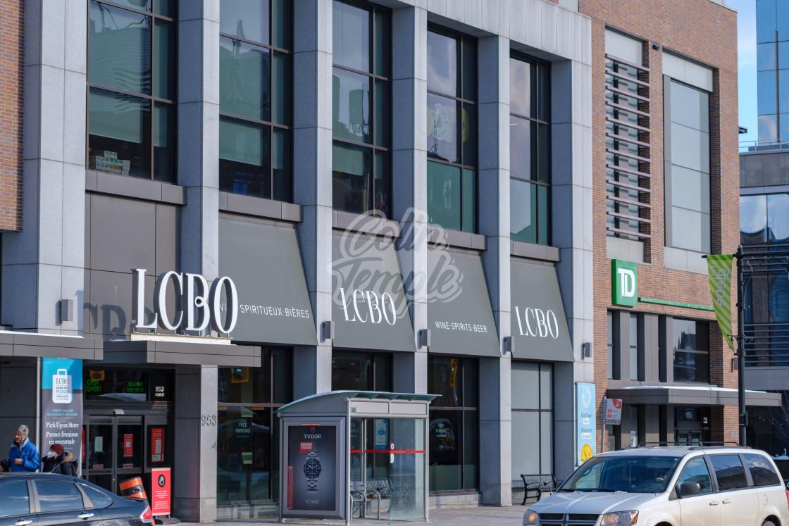 """""""LCBO at Lansdowne in The Glebe, Ottawa"""" stock image"""