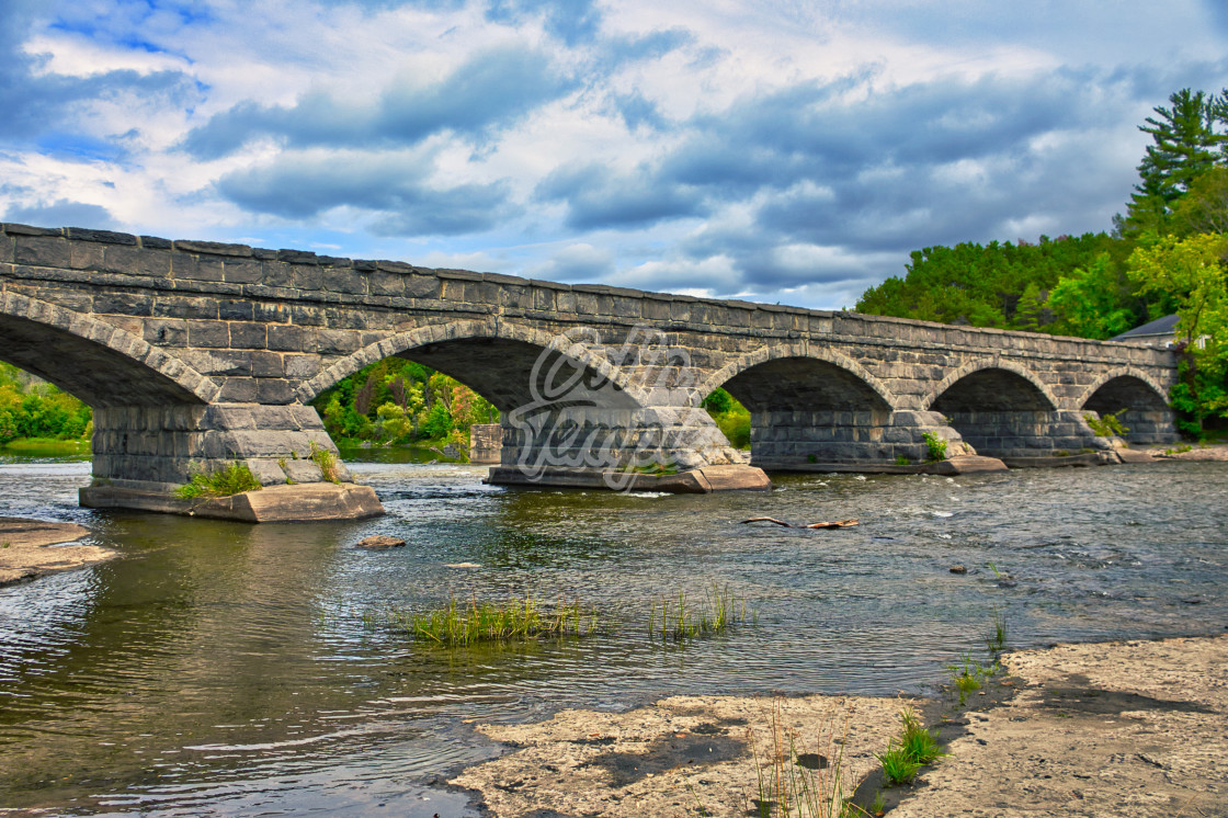 """""""Pakenham Bridge in Ontario, Canada"""" stock image"""