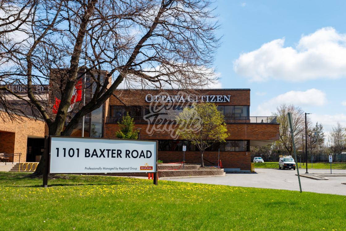 """Postmedia, Ottawa Citizen office at 1101 Baxter Rd"" stock image"