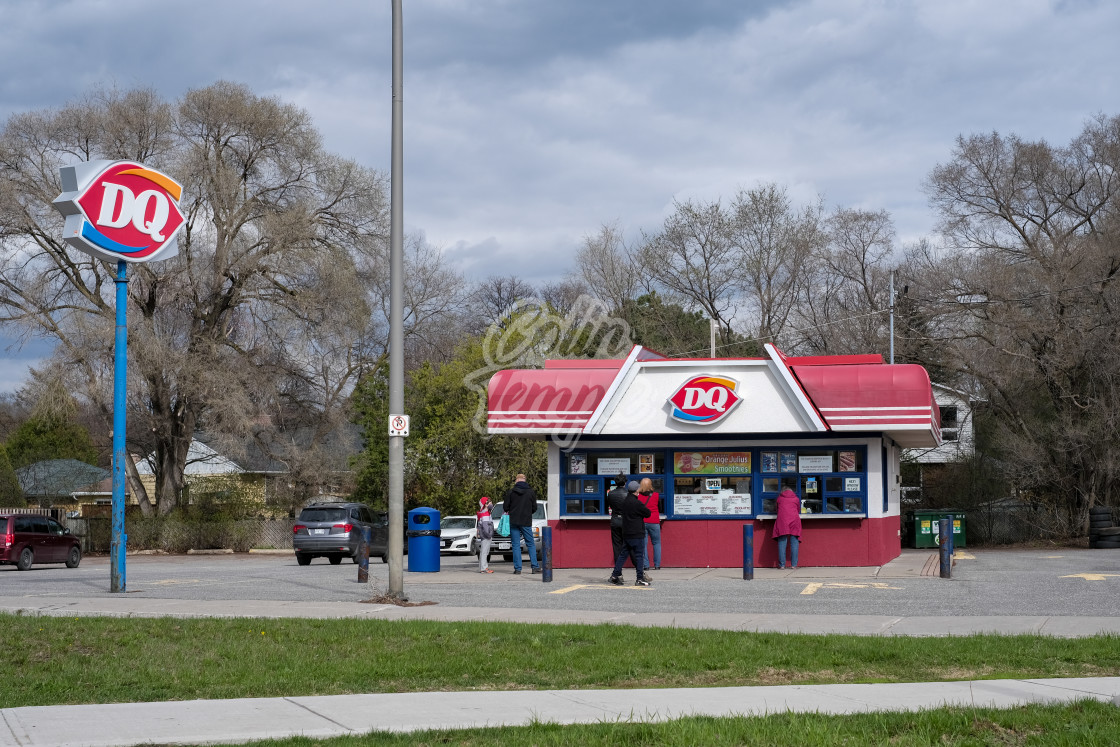 """Outdoor walk-up Dairy Queen counter in Ottawa, Canada"" stock image"