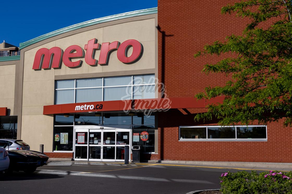 """Metro grocery store in Ottawa, Canada"" stock image"