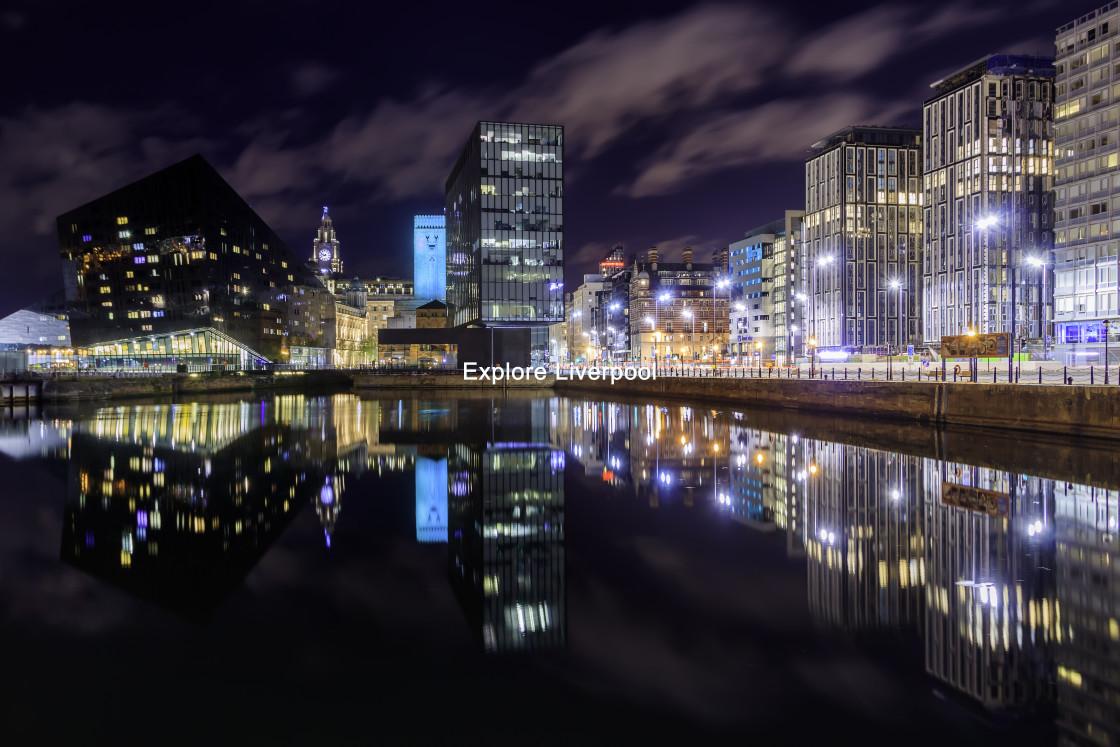 """Liverpool at night"" stock image"