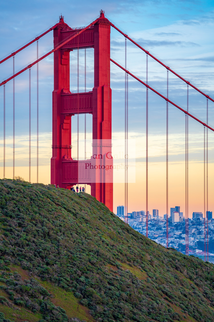 """Golden Gate Bridge at sunset #1"" stock image"